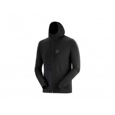 COMPRESSPORT 3D Seamless Zip Hoodie Black Edition