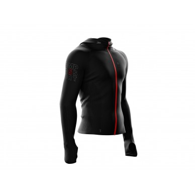 COMPRESSPORT 3D Seamless Zip Hoodie Woodpulp viršus