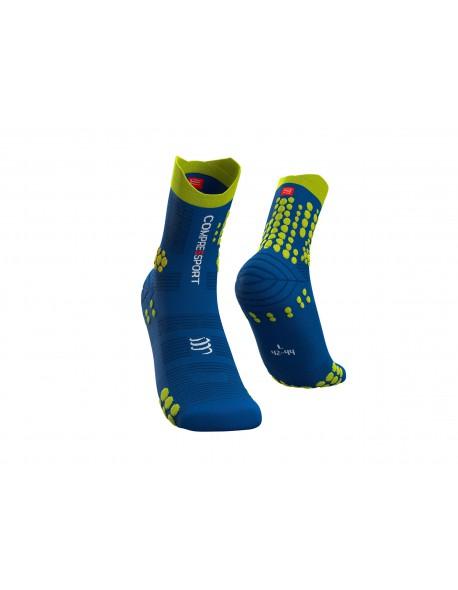 Compressport kojinės Pro Racing v3.0 Trail, Blue Lolite/Lime, T2