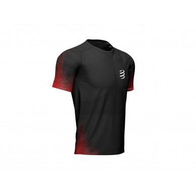 Compressport marškinėliai Racing SS M, Black, S