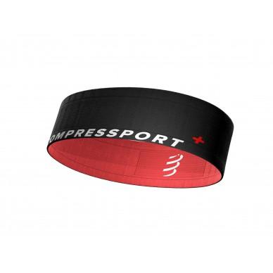 Compressport diržas Free Belt, Black/Coral, XS/S