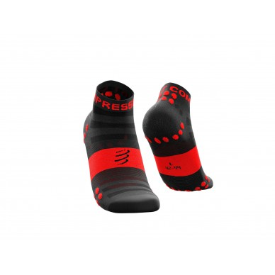 Compressport kojinės Pro Racing v3.0 Ultralight Run Low, Black/Red, T1