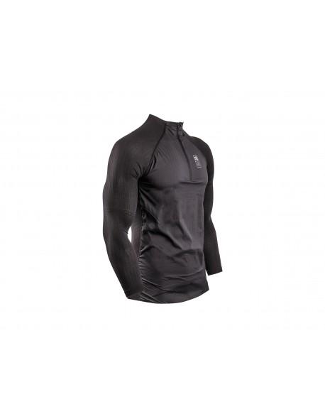 Compressport termo marškinėliai Hybrid Pullover, BLACK, size S/M