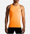 Brooks marškinėliai Atmosphere Singlet M - S, Fluoro Orange
