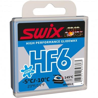 SWIX parafinas HF6X Blue, 40g