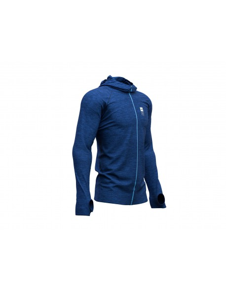 Compressport 3D Thermo Seamless Hoodie Mont Blanc